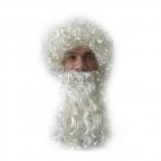 Peruca Papai Noel Com Barba - Creme