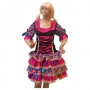Vestido Caipira Luxo Festa Junina - Adulto