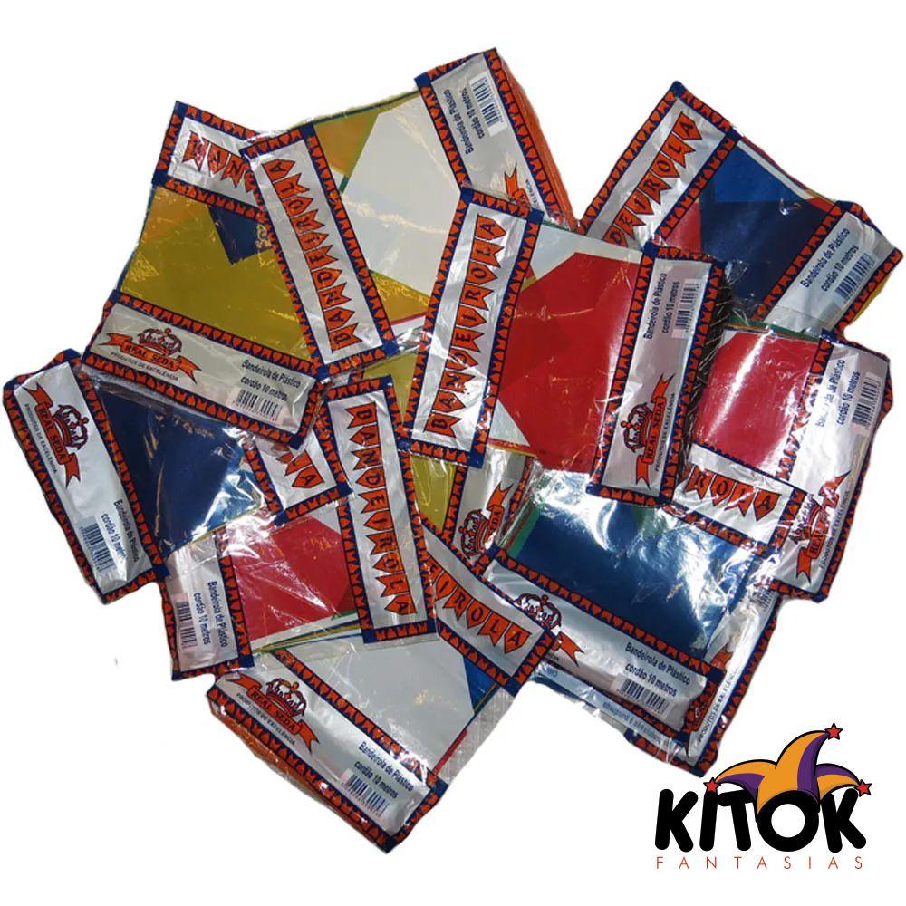 Bandeirinha Festa Junina Plástico 10 Metros - Kit com 12 unidades