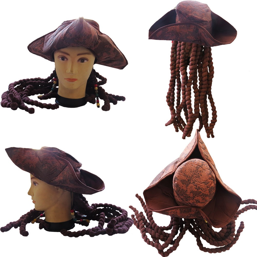 Chapéu Piratas do Caribe Com Dread Luxo