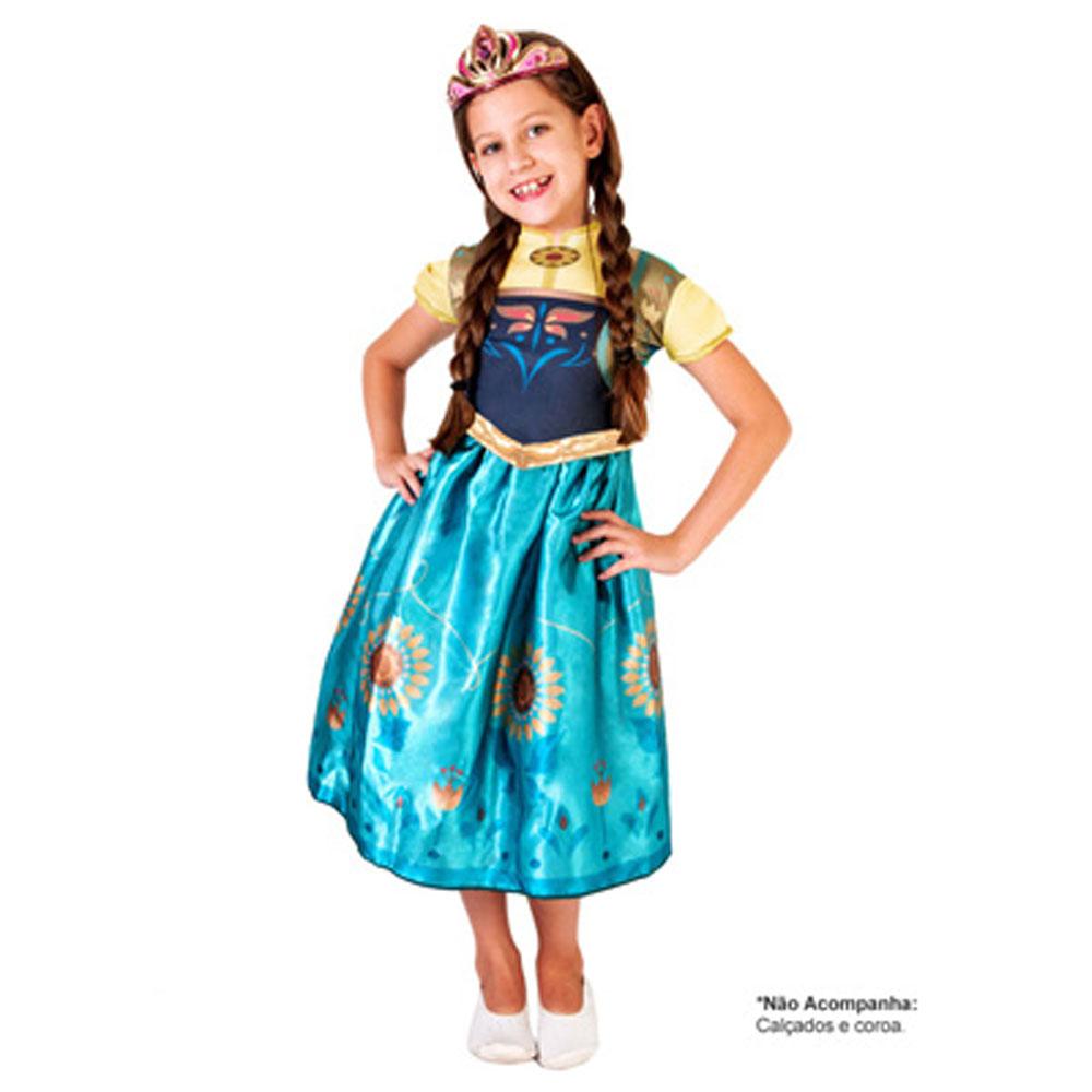 Fantasia Anna Frozen Fever Clássica - Infantil