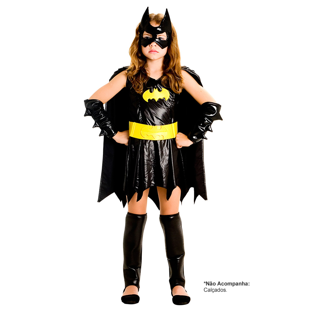 Fantasia Bat Girl Luxo - Infantil