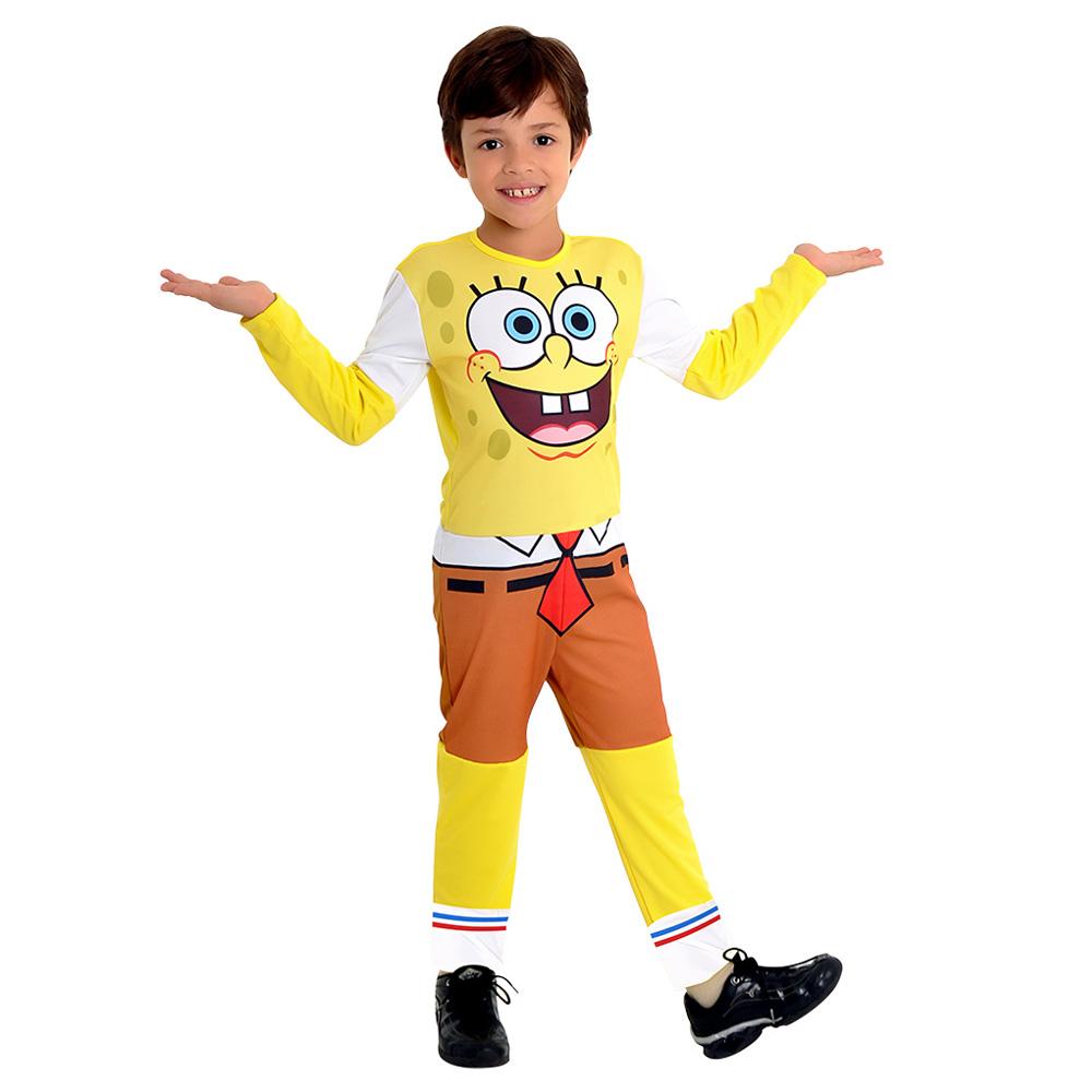 Fantasia Bob Esponja masculino Longo - Infantil