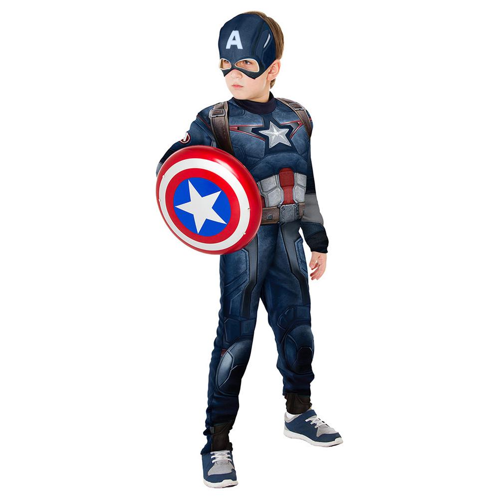 Fantasia Capitão América Vingadores 2 Longo Luxo - Infantil