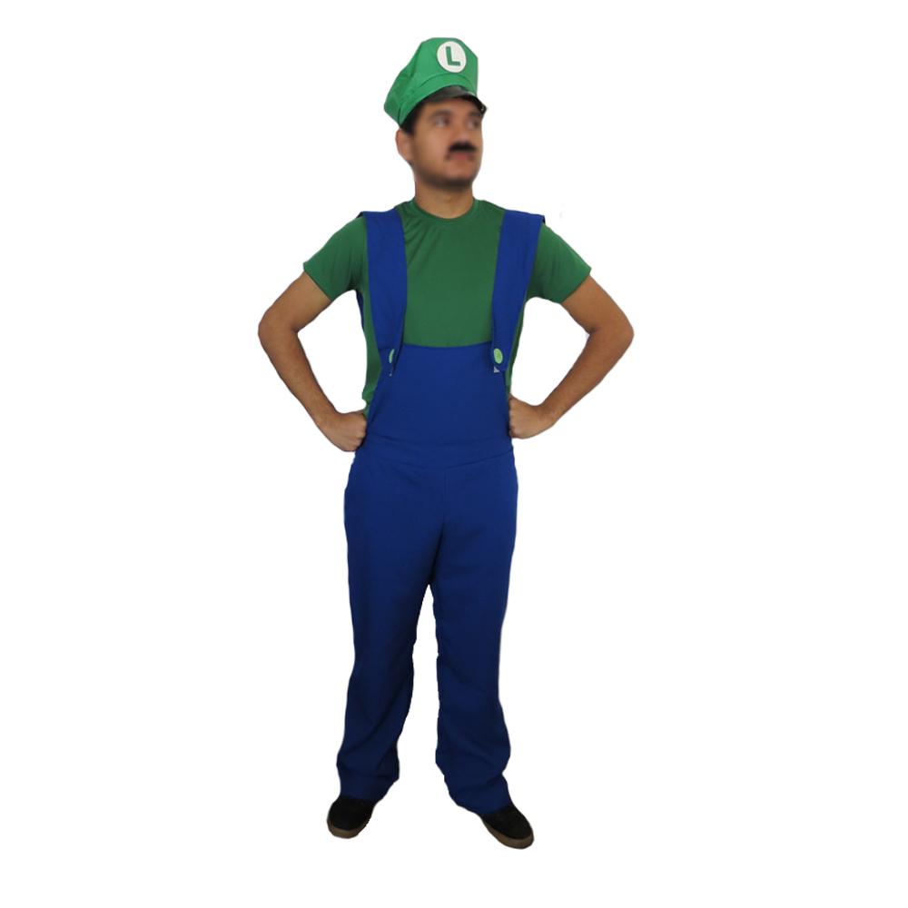 Fantasia Luigi Masculino - Adulto