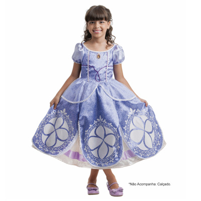 Fantasia Luxo Princesa Sofia Disney - Infantil