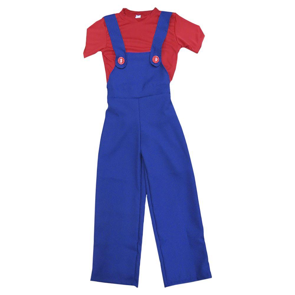 Fantasia Mario Bros Masculino Infantil