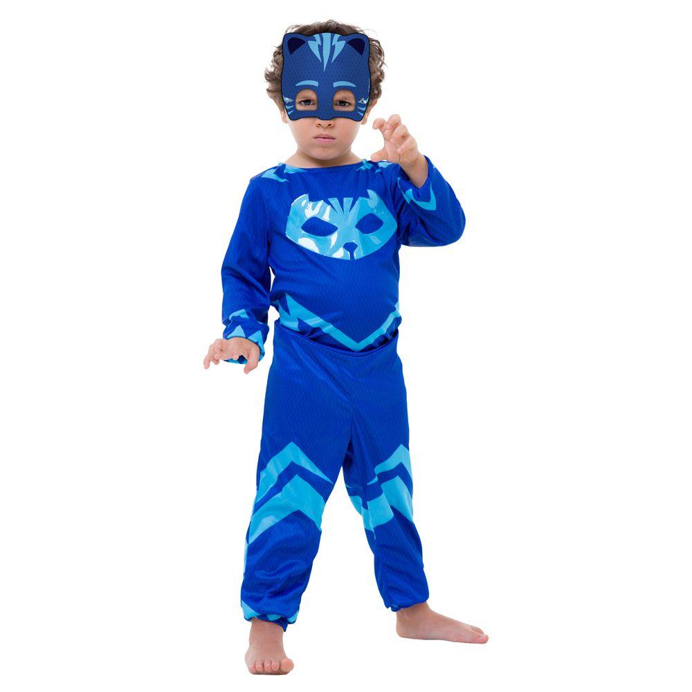 Fantasia Menino Gato PJ Masks Longo Infantil