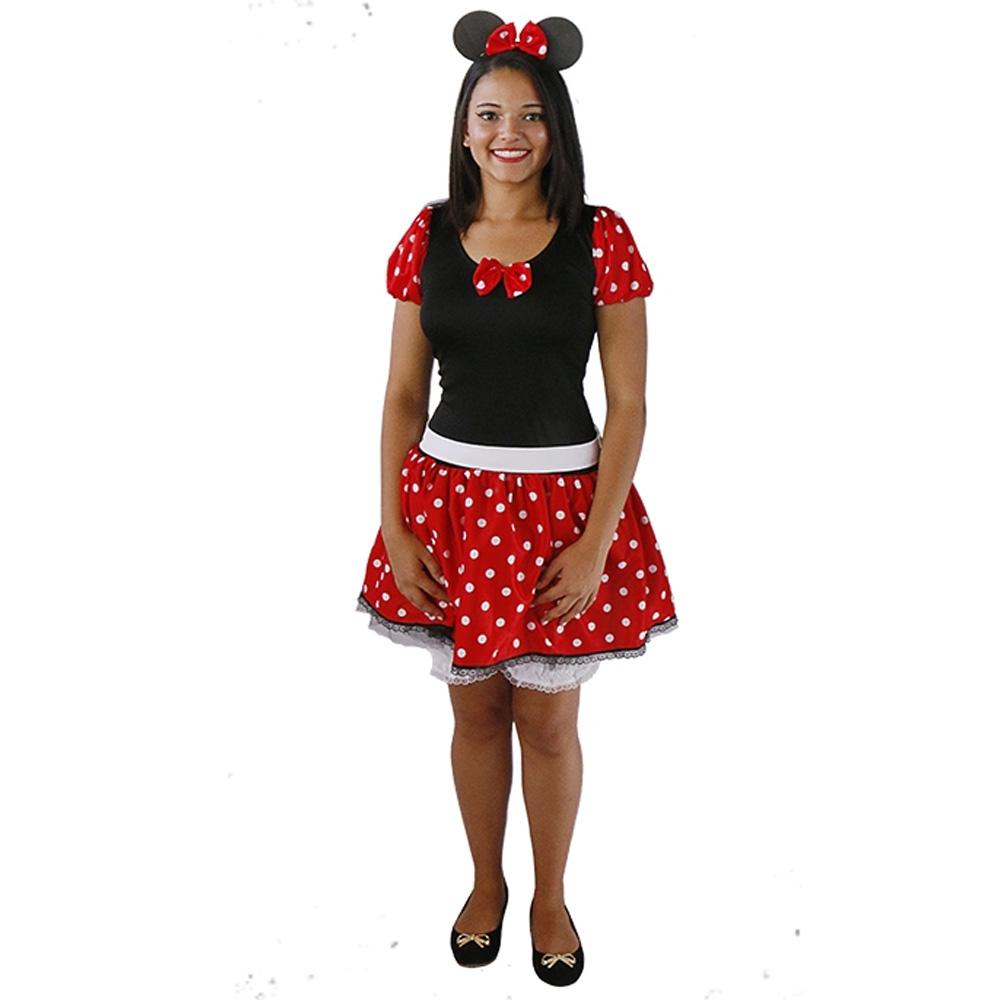 Fantasia Ratinha Minnie - Adulto