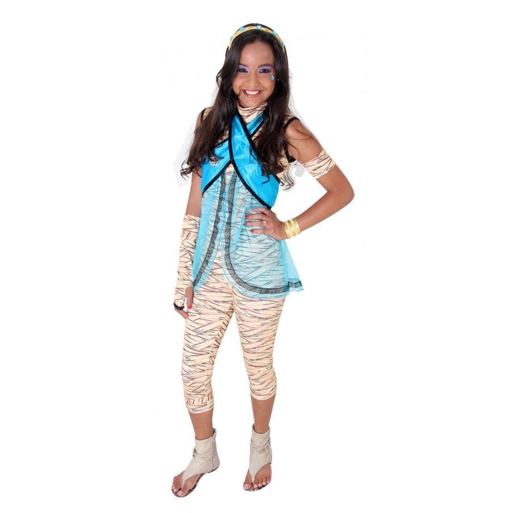Fantasia Monster High Cleo De Nile Infantil Luxo