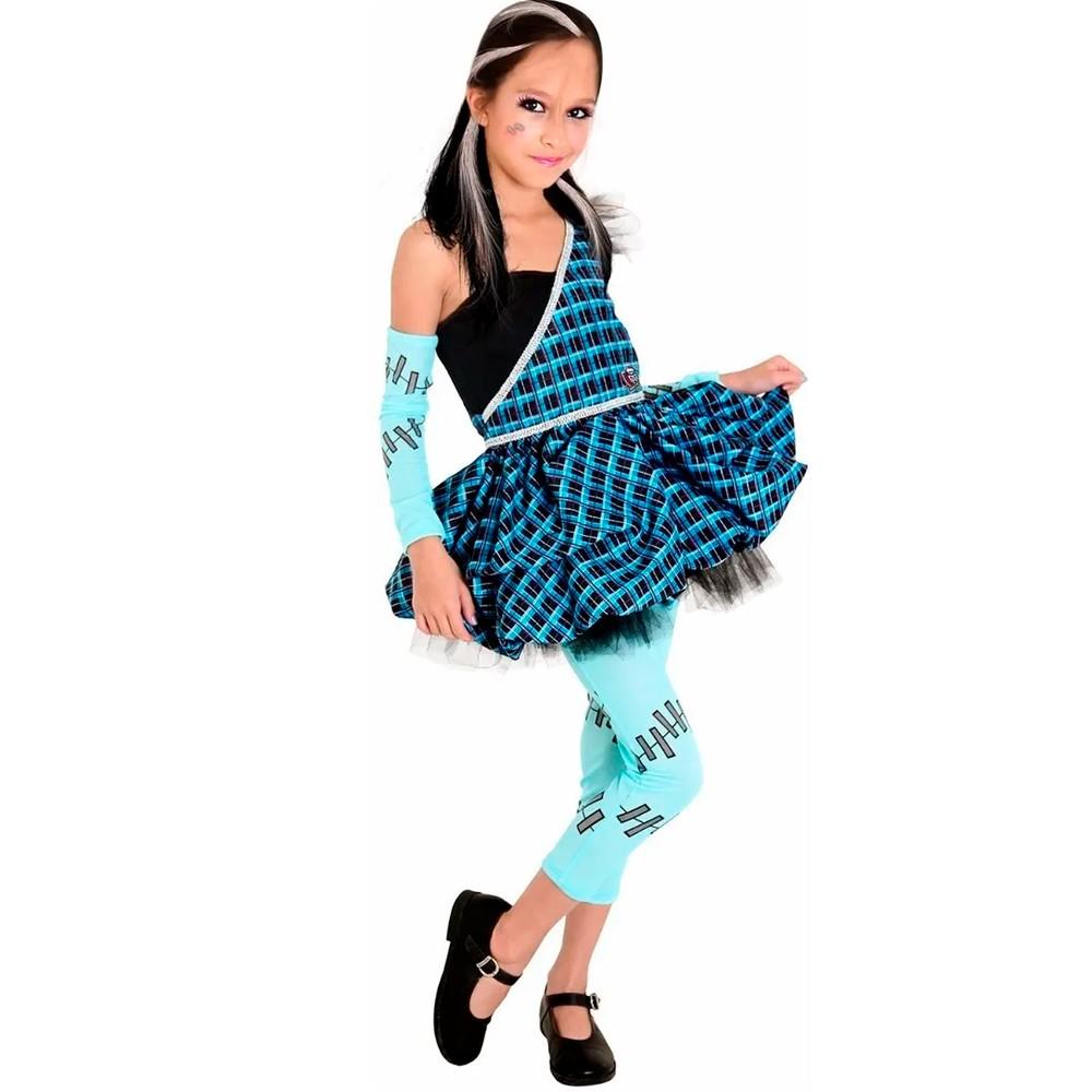 Fantasia Monster High Frankie Doce Infantil