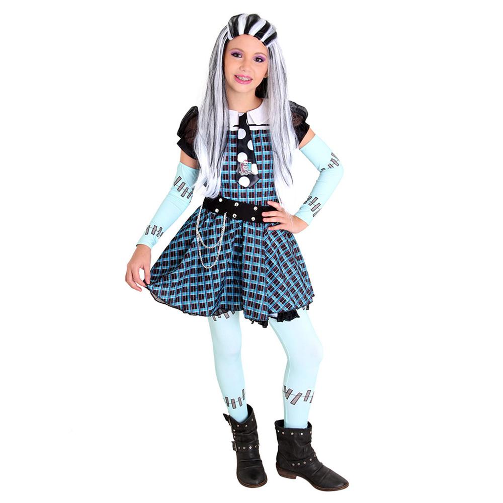 Fantasia Monster High Frankie Luxo - Infantil