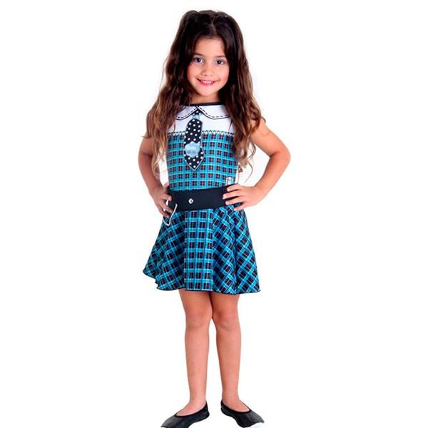 Fantasia Monster High Frankie Pop Infantil