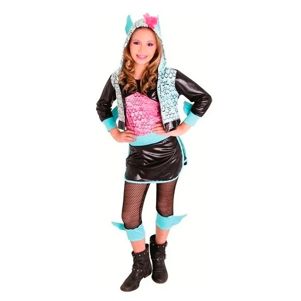 Fantasia Monster High Lagoona Luxo Infantil
