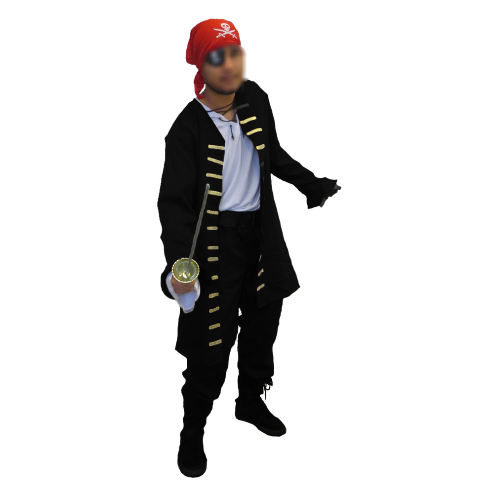 Fantasia Pirata Masculino Luxo - Adulto