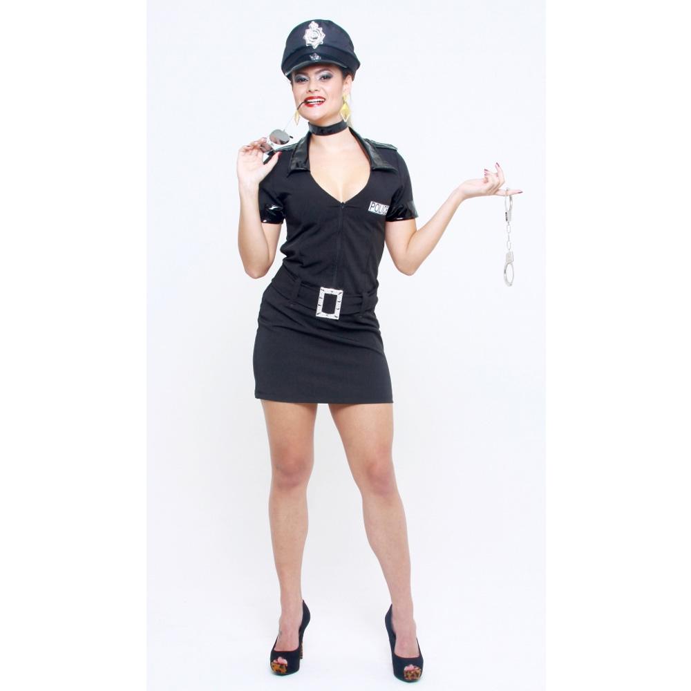 Fantasia Policial Feminina - Adulto