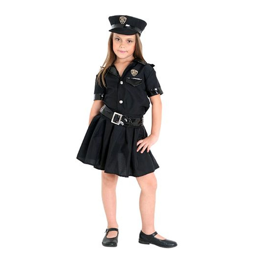 Fantasia Policial Feminino - Infantil