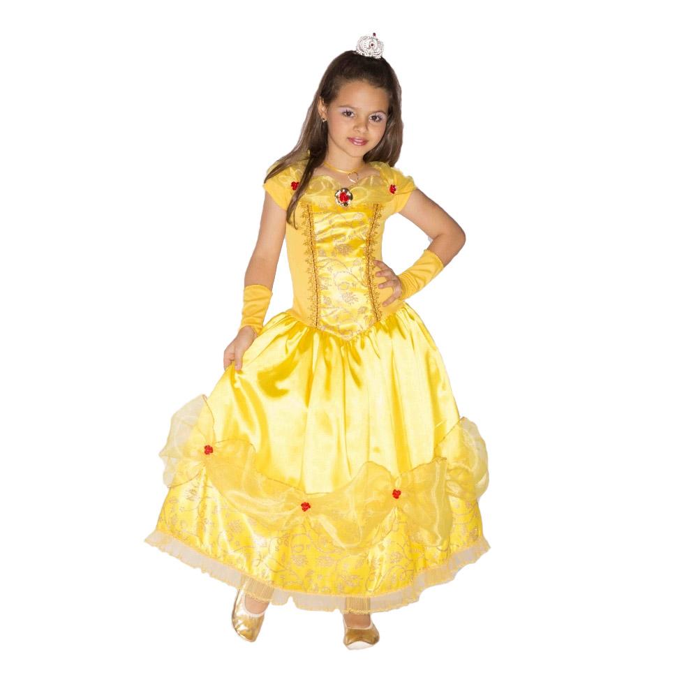 Fantasia Princesa Bela Amarela Bettina - Infantil