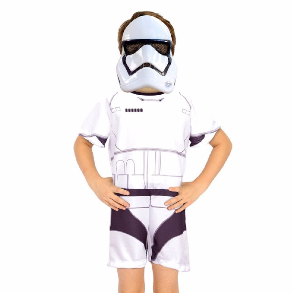 Fantasia StormTrooper Masquerade Star Wars Curto - Infantil