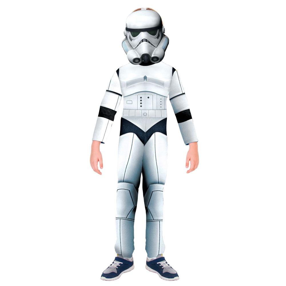 Fantasia Stormtrooper Star Wars Longo - Infantil