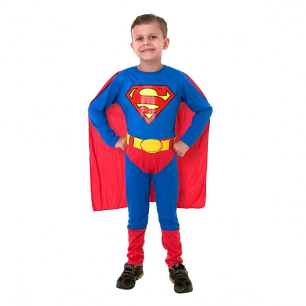 Fantasia Super Homem Standard Longo - Infantil