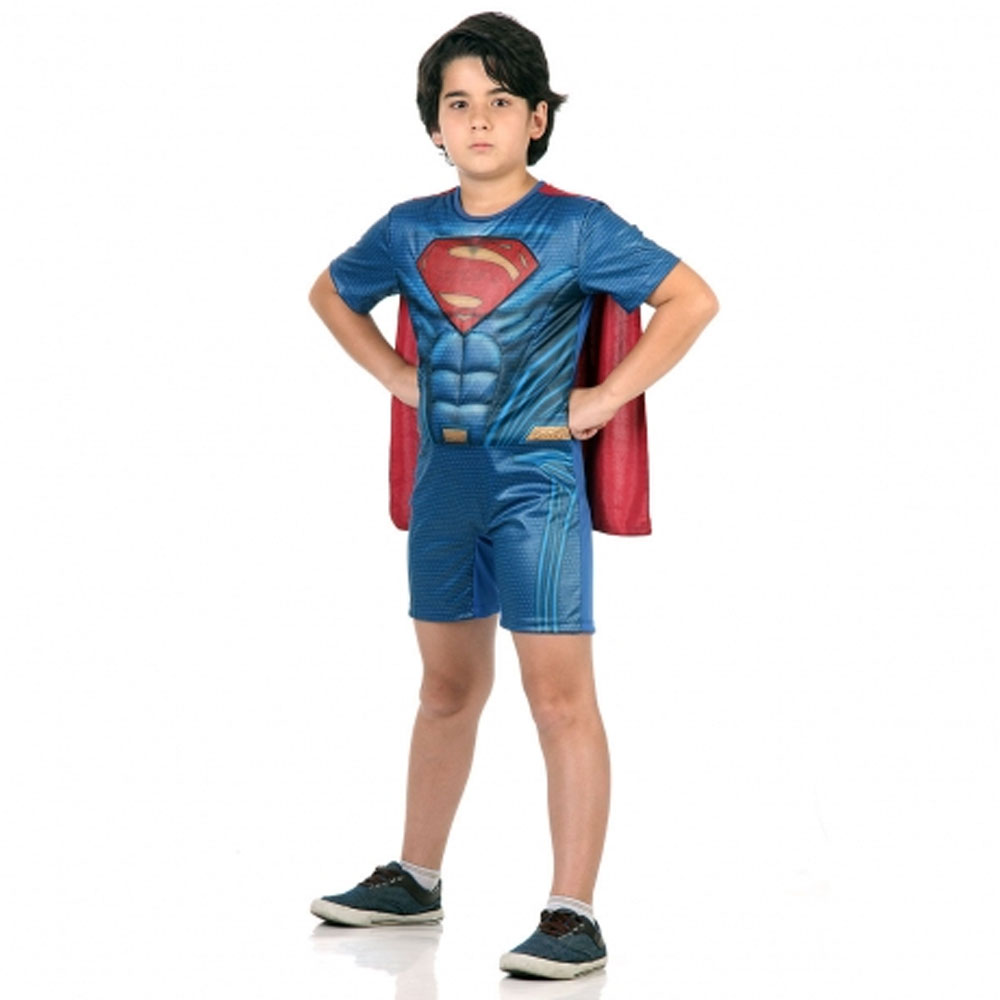 Fantasia Super Homem Superman do Filme Batman vs Superman - Infantil