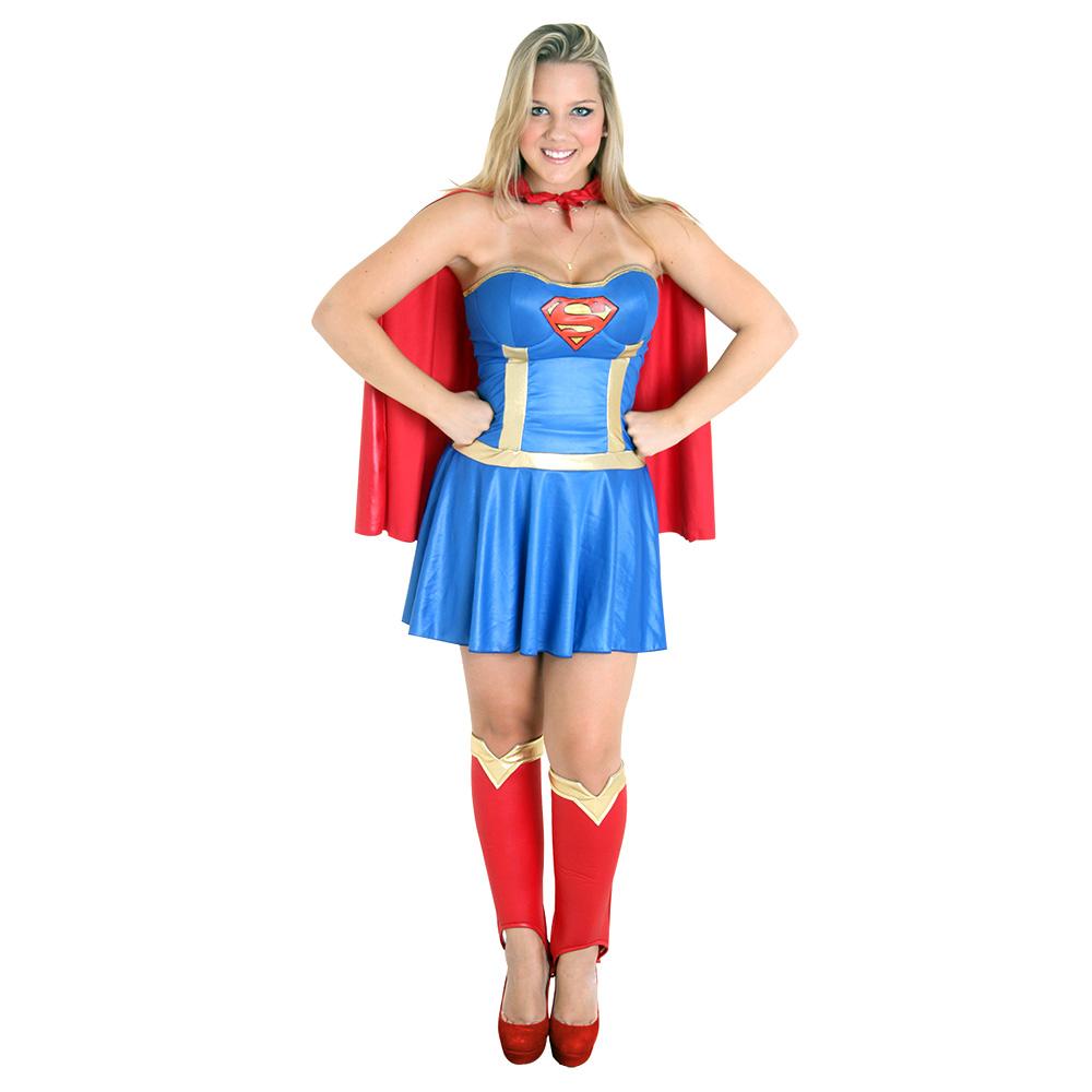 Fantasia Super Mulher Nova - Heat Girls - Adulto