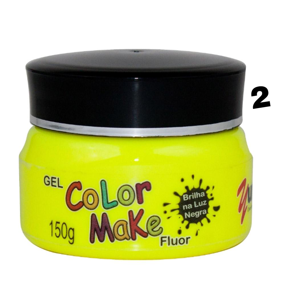 Gel de cabelo Fluorescente Pote com 150gr - Color make