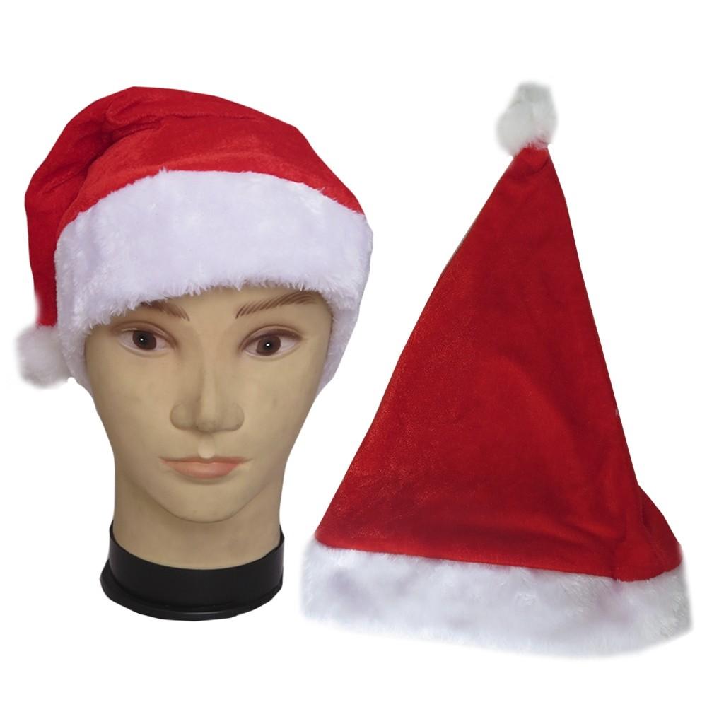 Gorro Papai Noel Veludo e Pelúcia