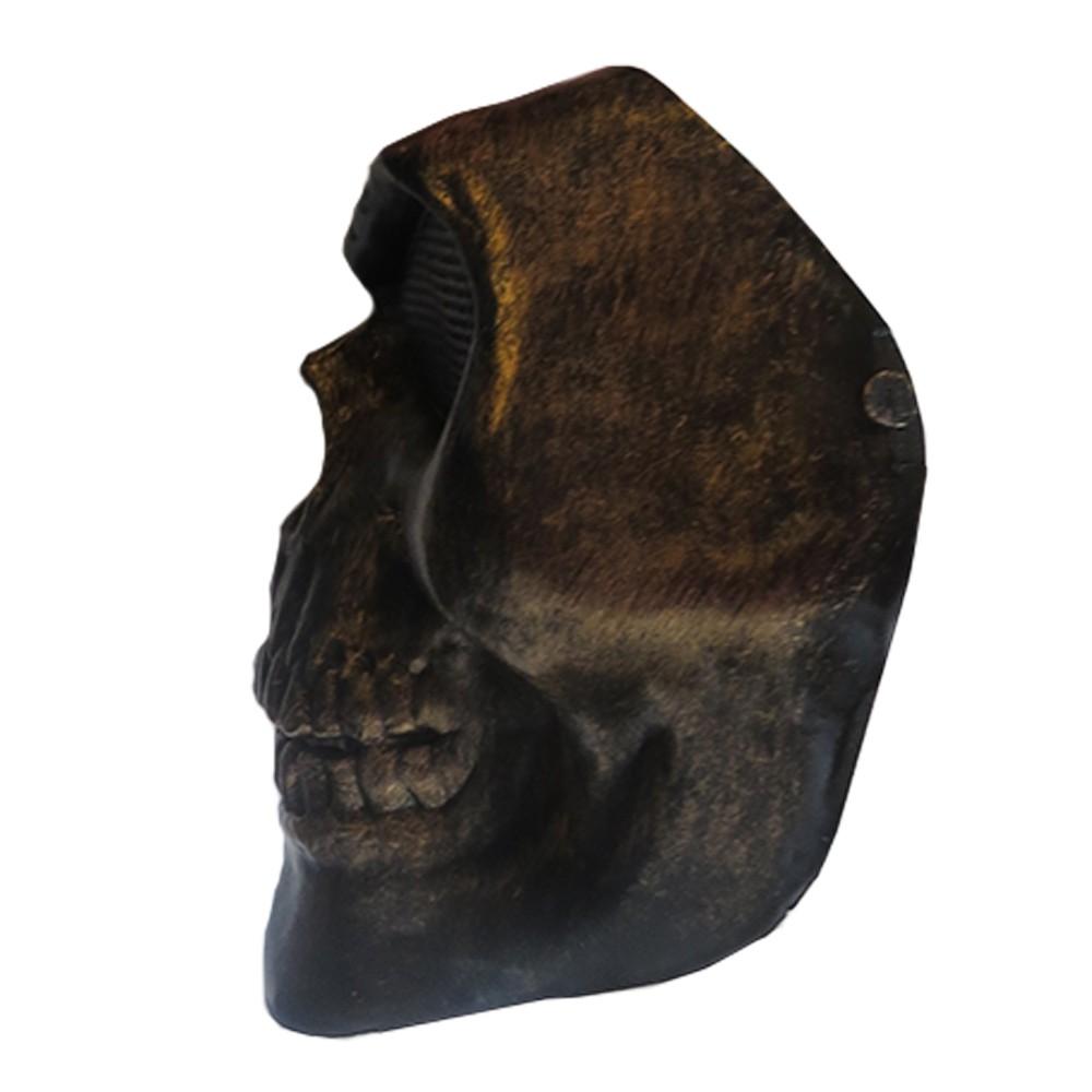 Máscara Caveira Metalizada Plástico
