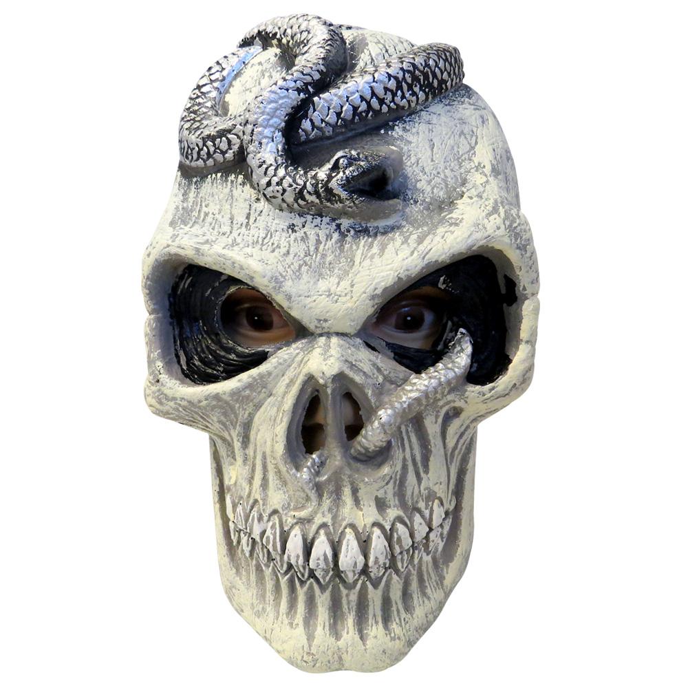 Máscara de Caveira em Borracha com Cobra
