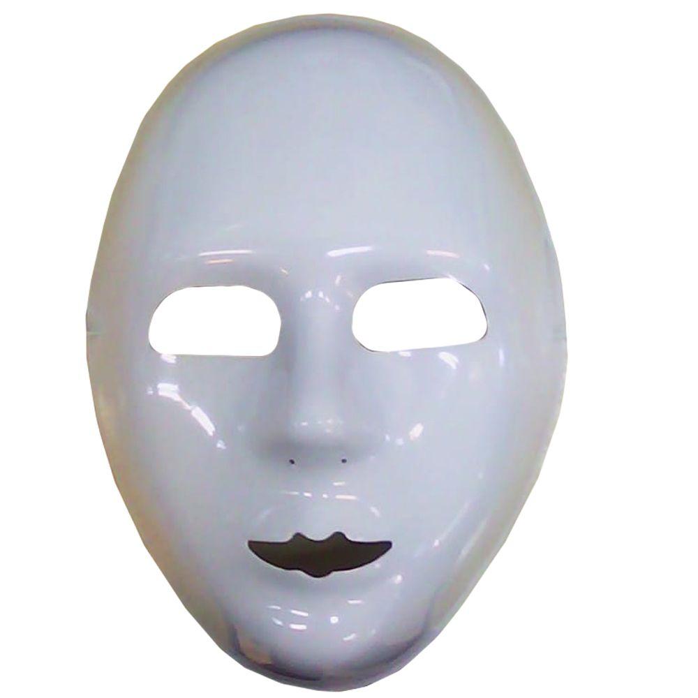 Máscara Rosto Branco Pacote com 12 unidades