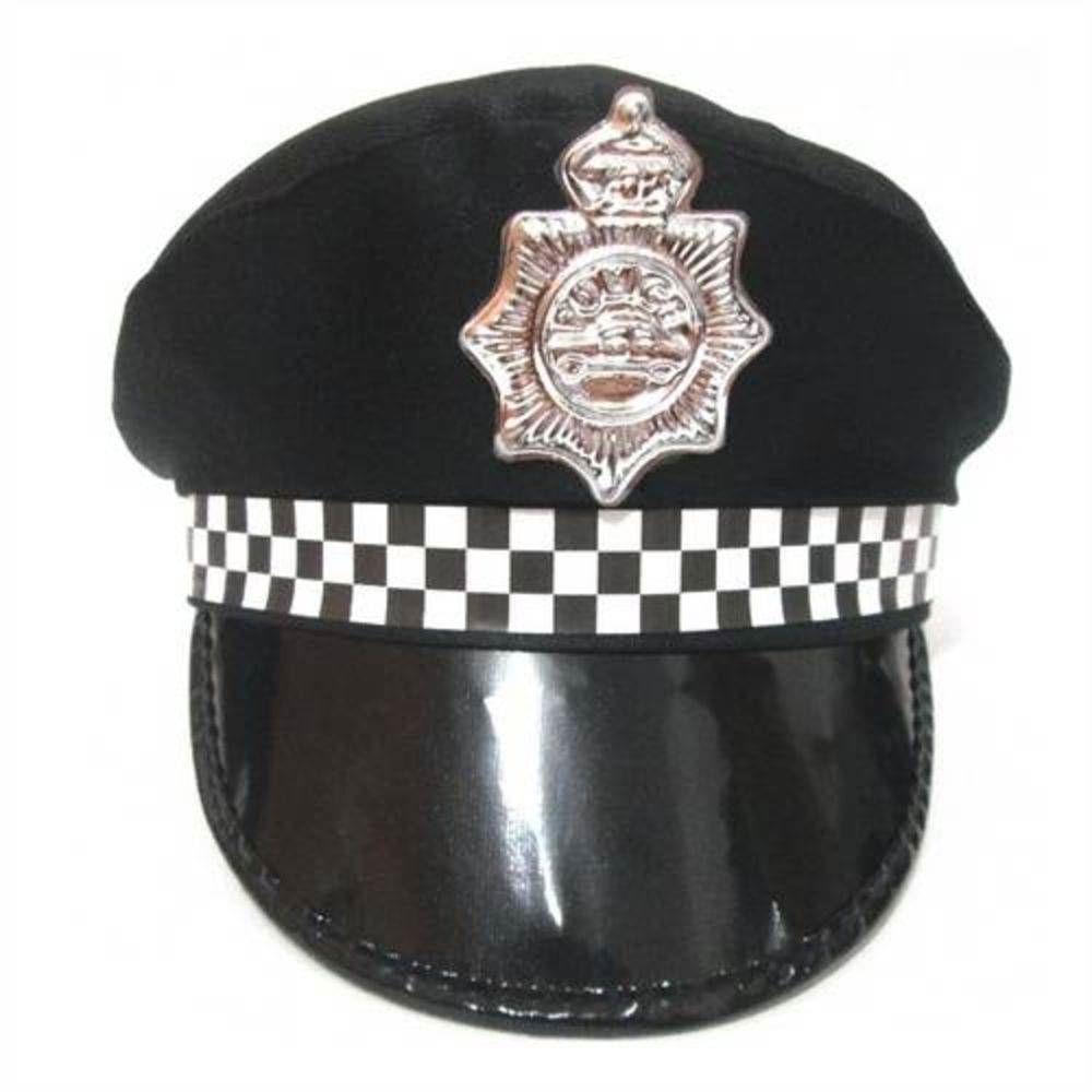 Quepe Policial Preto Infantil