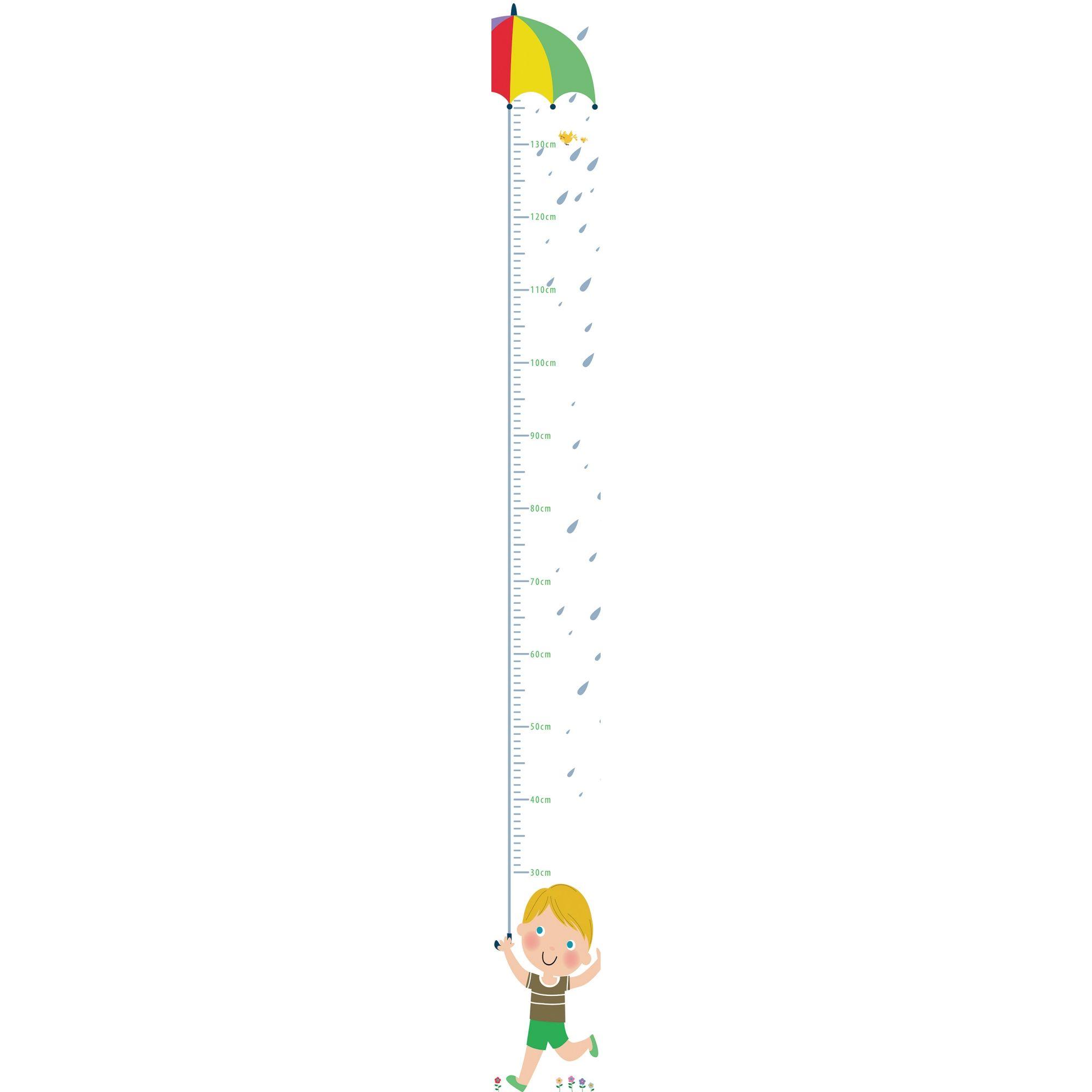 Adesivo Autocolante Régua de Crescimento infantil TacDecor Menino 1,5m(A) x 15cm(L)