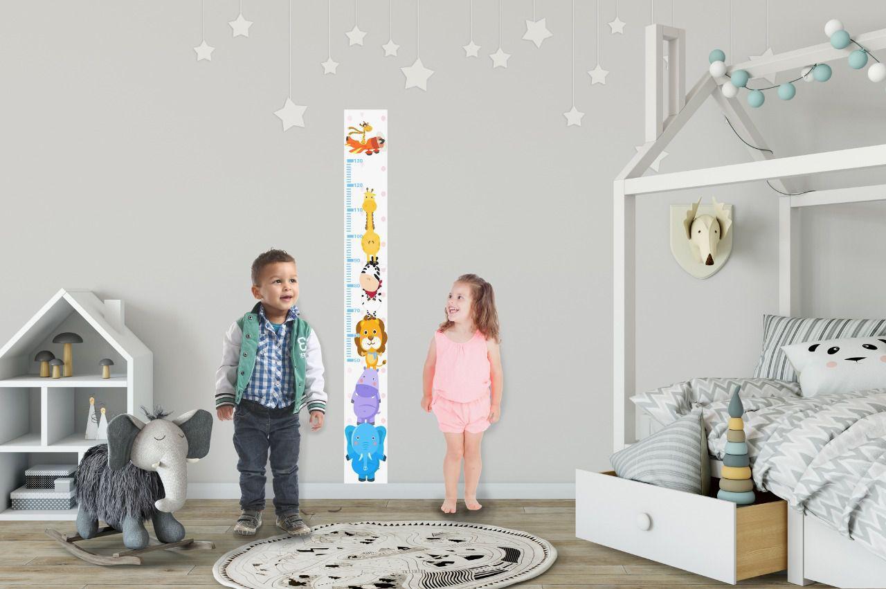 Adesivo autocolante Régua de Crescimento Infantil TacDecor Safari 1,5m(A) x 15cm(L)