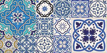 Kit  Ladrilho decorativo Autocolante TacDecor Azulejos Portugueses 18 Peças 15cm x 15cm
