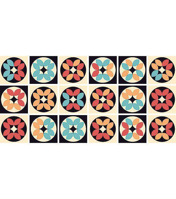 Kit de Ladrilho decorativo Autocolante - Alium (18 Peças - 15cm x 15cm)