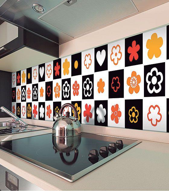 Kit de Ladrilho decorativo Autocolante - Blackton (18 Peças - 15cm x 15cm)
