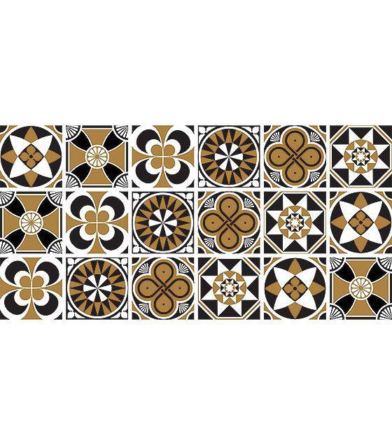 Kit de Ladrilho decorativo Autocolante - Delfin (18 Peças - 15cm x 15cm)