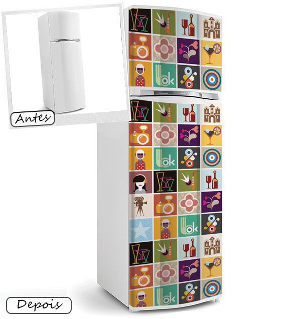 Kit de Ladrilho decorativo Autocolante - Dendron(18 Peças - 15cm x 15cm)