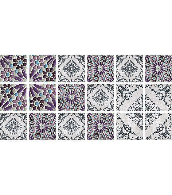 Kit de Ladrilho decorativo Autocolante - Drops (18 Peças - 15cm x 15cm)