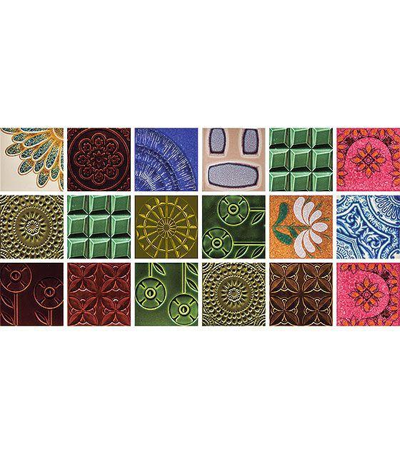 Kit de Ladrilho decorativo Autocolante - Gerbera (18 Peças - 15cm x 15cm)