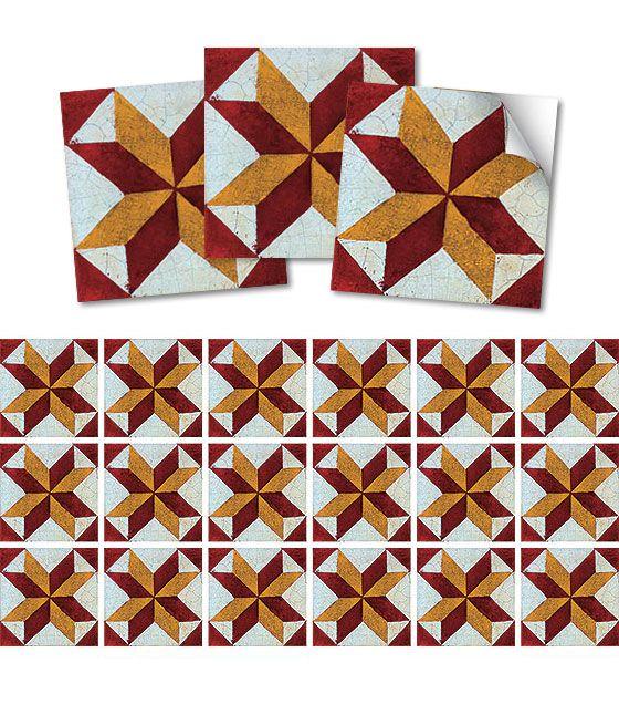 Kit de Ladrilho decorativo Autocolante - Ixia (18 Peças - 15cm x 15cm)