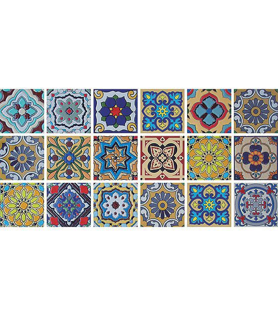 Kit de Ladrilho decorativo Autocolante TacDecor Kangoro 18 Peças 15cm x 15cm