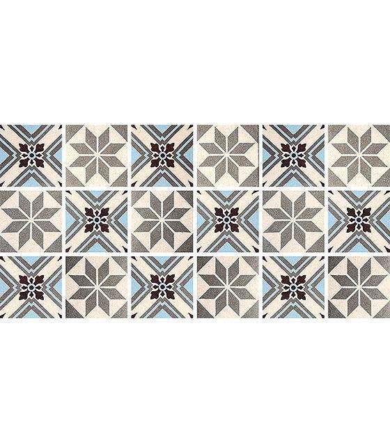 Kit de Ladrilho decorativo Autocolante - Liatris (18 Peças - 15cm x 15cm)