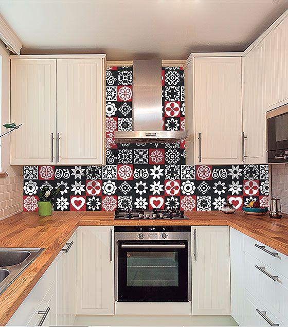 Kit de Ladrilho decorativo Autocolante Mosaic 18 Peças 15cm x 15cm