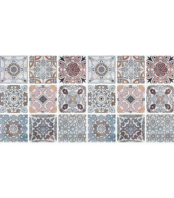 Kit de Ladrilho decorativo Autocolante Tiles 18 Peças 15cm x 15cm