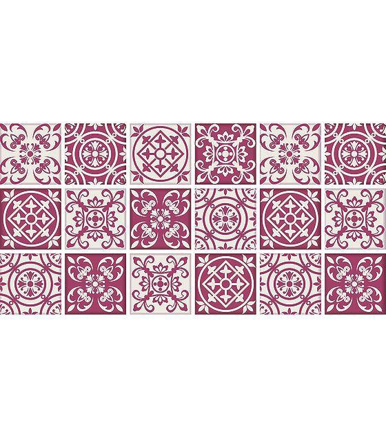 Kit de Ladrilho decorativo Autocolante - Scarlett(18 Peças - 15cm x 15cm)
