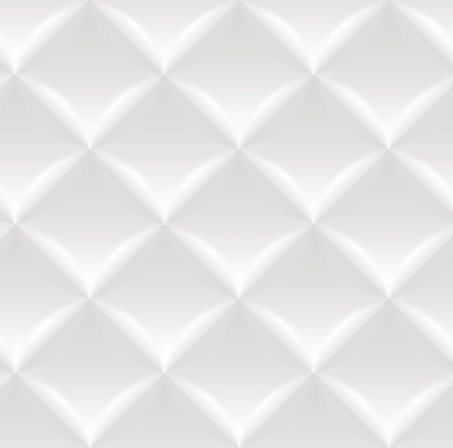 Papel de parede Bobinex Vinílico Coleção Dimensões Geométrico 3D Almofada Cinza, Marfim