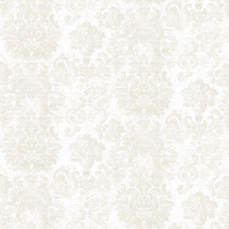 Papel de parede Coleção Diplomata arabesco branco, bege